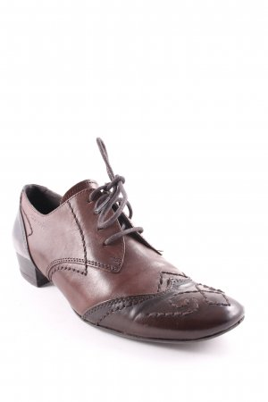 Tamaris Lace Shoes brown-dark brown classic style