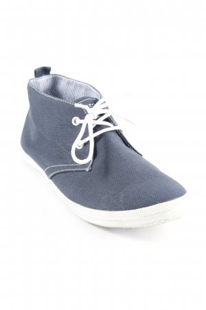 Tamaris Lace Shoes white-dark blue classic style