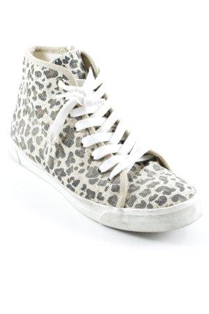 Tamaris Sneakers met veters dierenprint atletische stijl