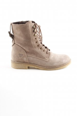 Tamaris Lace-up Boots beige casual look