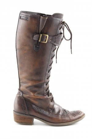 Tamaris Lace-up Boots brown casual look