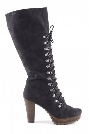 Tamaris Lace-up Boots black gothic look