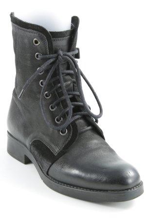 Tamaris Schnürstiefel schwarz schlichter Stil