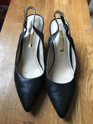 Tamaris Schuhe, Absatz, hinten offen, schwarz