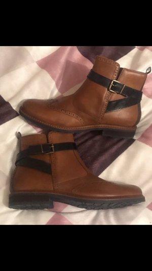 Tamaris Schuhe Budapester Halbschuhe braun 41 neu Chelsea Boots