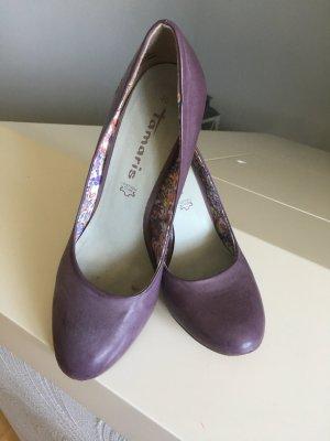 Tamaris, Schuhe, Pumps, lila, Größe 40