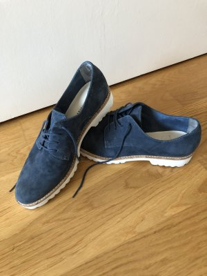 Tamaris Schuhe Schnürer Blau 39 Wildleder