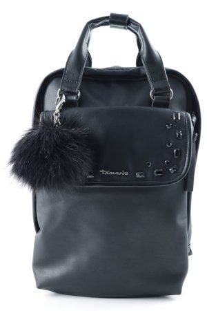 Tamaris Schulrucksack schwarz-silberfarben minimalistischer Stil