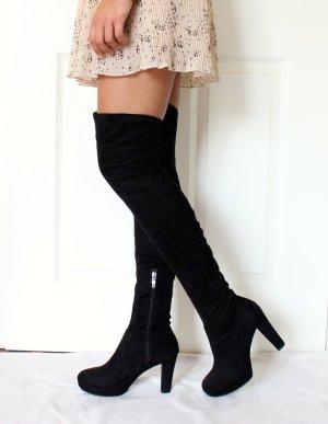 Tamaris schwarze overknee Stiefel