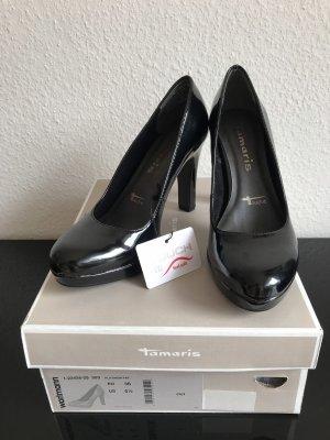 Tamaris schwarze Pumps (lack)