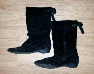 Tamaris, schwarzer Schlupf-Stiefel, Gr.40