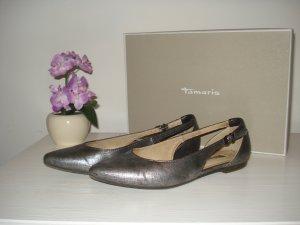 Tamaris Silber Metallic Ballerinas Gr.37
