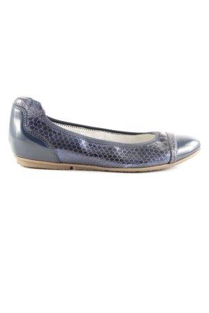 Tamaris Slingback Ballerinas blue animal pattern casual look
