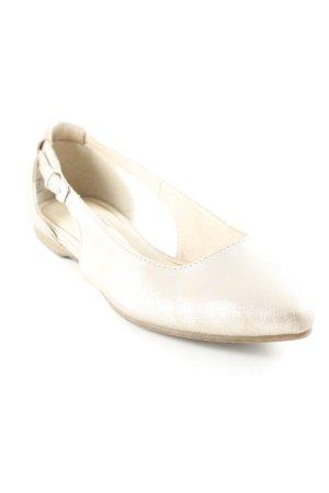 Tamaris Bailarinas sin talón color oro elegante