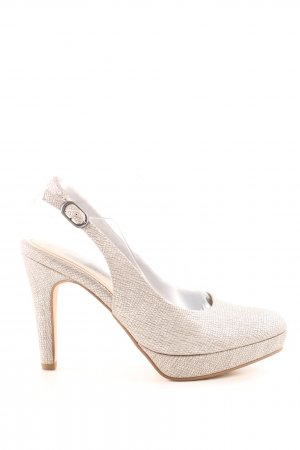 Tamaris Slingback Pumps natural white allover print business style