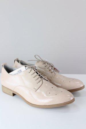 Tamaris Zapatos brogue crema-blanco puro