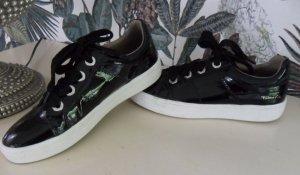 Tamaris Sneaker Gr. 39 schwarz, Leder, Lackleder, Soft-touch Sohle
