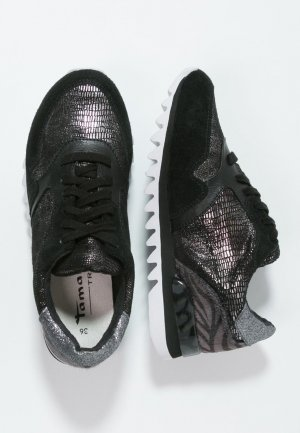 TAMARIS Sneaker schwarz kroko grau 37 38 39