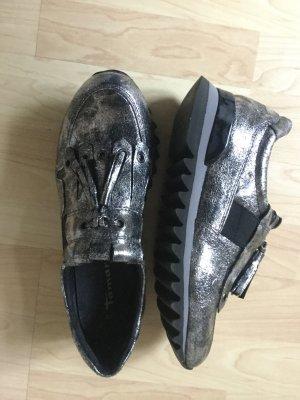 Tamaris Sneaker schwarz silber Gr.38 NEU