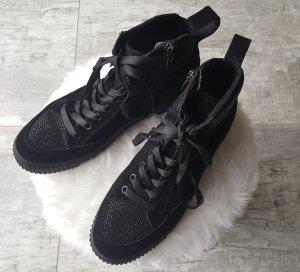 Tamaris Sneakers High ~ Gr. 40 ~ gefüttert schwarz