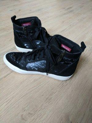 Tamaris Sneakers mit Pailletten und hohem Schaft