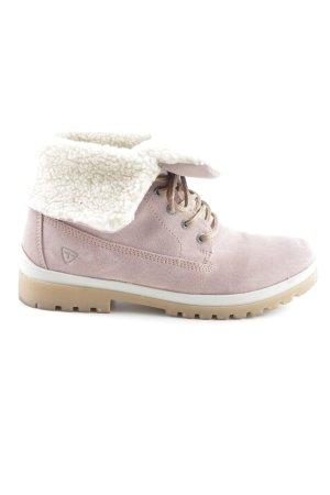 Tamaris Stivale da neve rosa-bianco stile casual