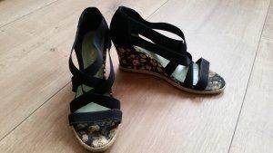 Tamaris Plateauzool sandalen zwart