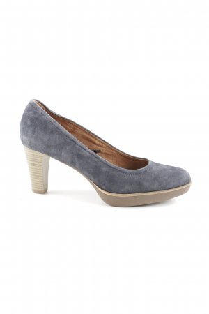 Tamaris Spitz-Pumps blau Business-Look