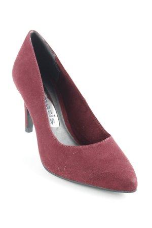 Tamaris Zapatos de punta burdeos-negro elegante