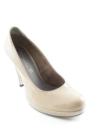 Tamaris Pointed Toe Pumps cream elegant