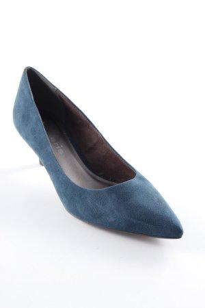 Tamaris Stiletto brun foncé-bleu pétrole style simple
