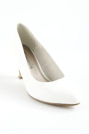 Tamaris Zapatos de punta blanco estilo sencillo