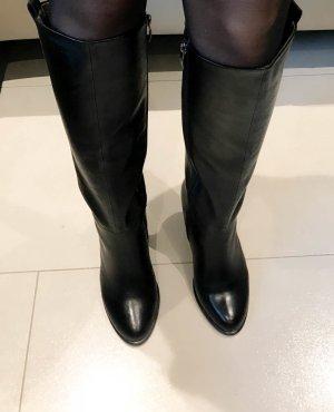 Tamaris Stiefel 35 schwarz Leder