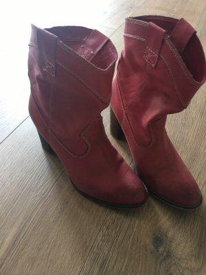 Tamaris Boots western rouge foncé