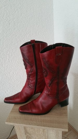 Tamaris Stiefel Gr 38 Echtleder neuwertig