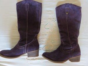 Tamaris Bottes à talon bleu violet-violet foncé cuir