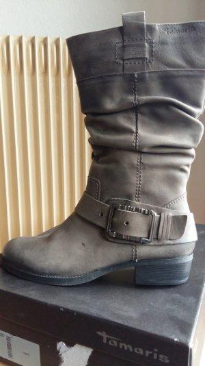 Tamaris Botas altas marrón grisáceo