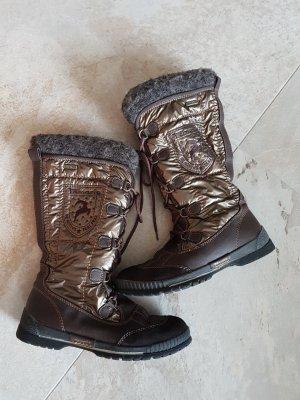 Tamaris Botas con cordones color bronce-marrón