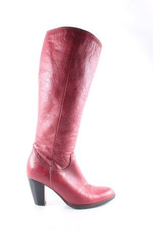 Tamaris Botte haute rouge brique style décontracté