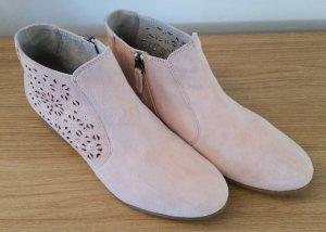 Tamaris Stiefelette aus Veloursleder rosa Gr. 40