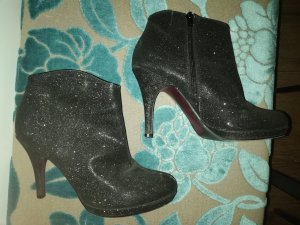 Tamaris Zipper Booties black-silver-colored