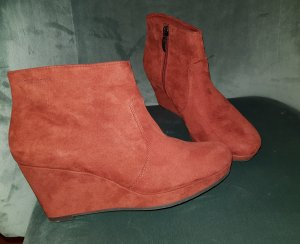 Tamaris Platform Booties orange-russet