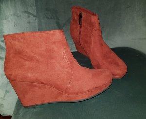 Tamaris Plateauzool laarsjes oranje-roodbruin
