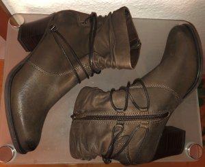 Tamaris Stiefelette Stiefel Leder braun 39 Neu