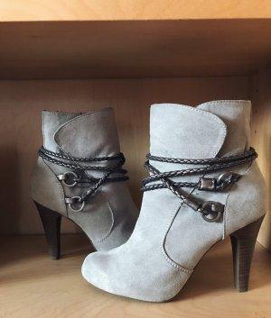 Tamaris Zipper Booties silver-colored-light grey