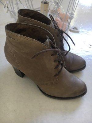 Tamaris Lace-up Booties grey brown