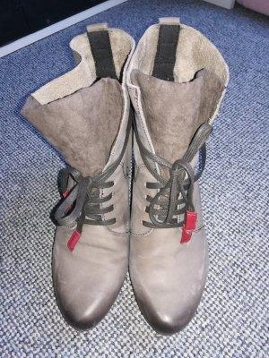 Tamaris Lace-up Booties grey