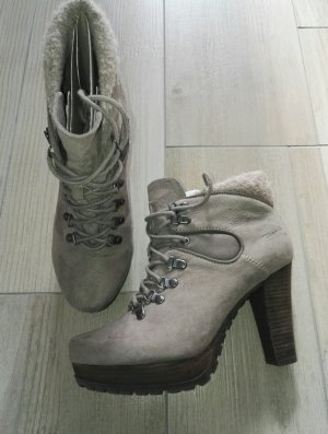 TAMARIS Stiefeletten / grau - taupe / Größe / so gut wie NEU