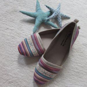 Tamaris * Süße Sommer Stoff Loafer * lila-rosa-bunt Hippie * 41