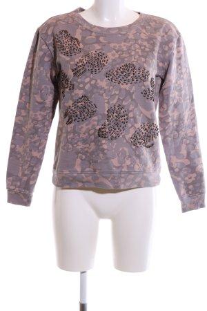 Tamaris Sweatshirt pink-creme abstraktes Muster Casual-Look